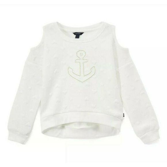 Nautica Other - Nautica girls size 5 Anchor Cold-Shoulder Sweater